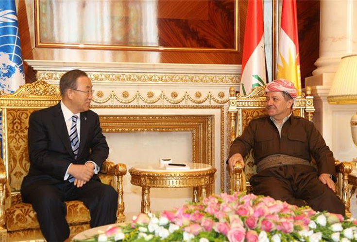 Ban Ki-moon bespricht die Lage in Syrien mit kurdischer Regierungsspitze