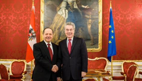 Präsident Barzani zu Besuch bei Präsident Fischer in Wien