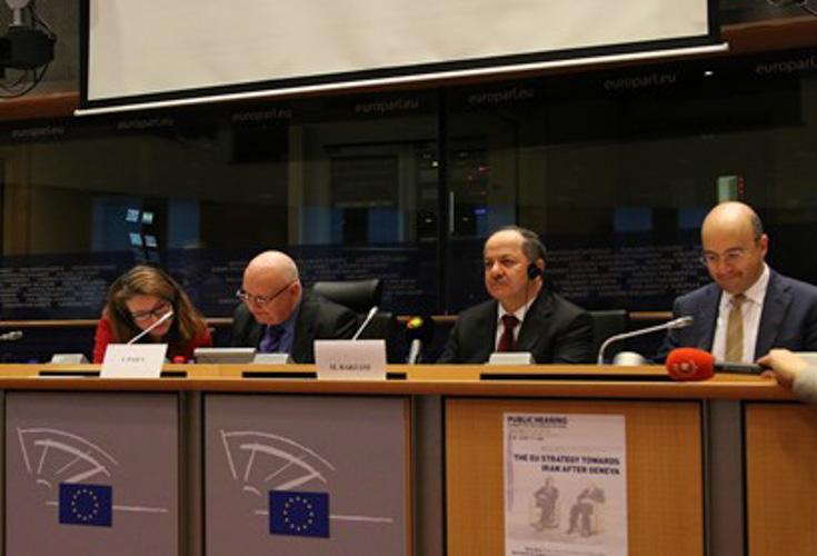 Präsident der Region Kurdistan spricht vor dem Ausschuss für auswärtige Angelegenheiten des EU-Parlaments
