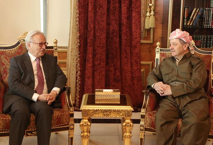 Präsident Barzani trifft Vorsitzenden der Sozialdemokraten des Europäischen Parlaments