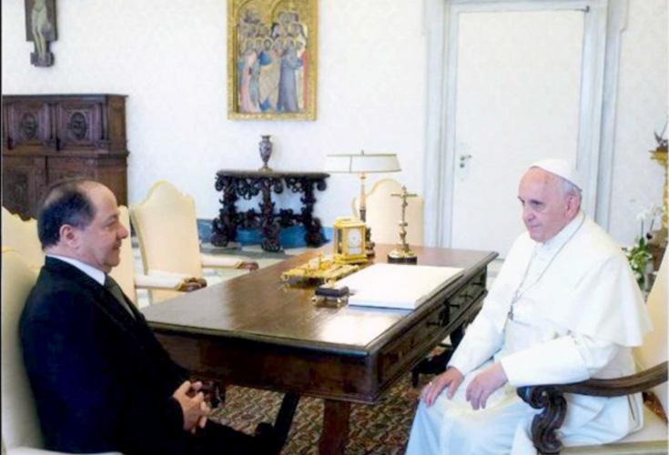 Papst Franziskus begrüßt die Rolle Präsident Barzanis beim Schutz irakischer Christen und syrischer Flüchtlinge