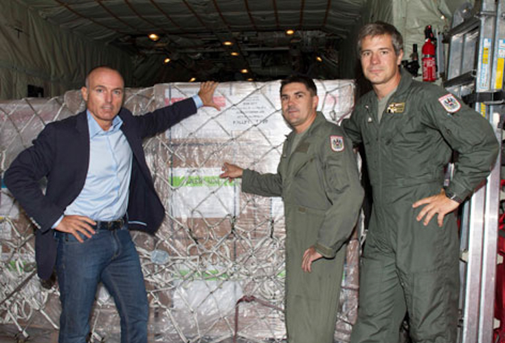 Hilfslieferung aus Österreich auf dem Weg in die Region Kurdistan