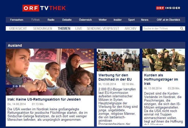 ORF Themenschwerpunkt: Krise im Irak