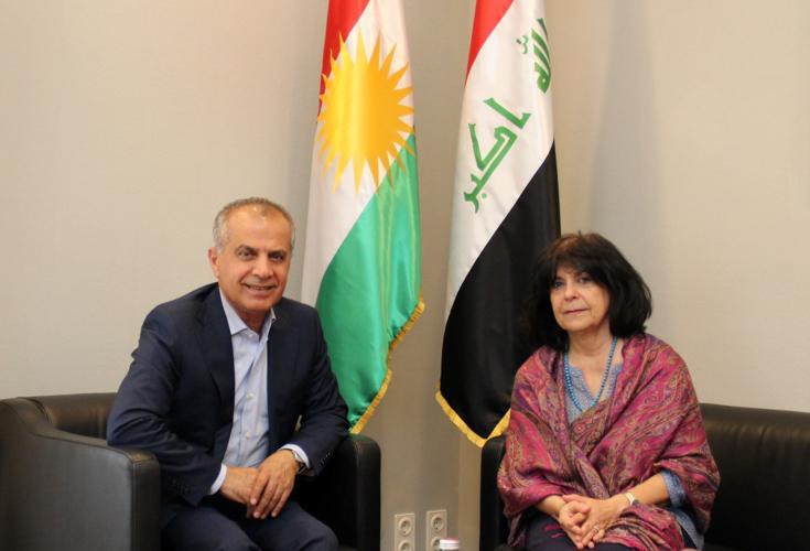 Repräsentant der KRG trifft sich mit der Barzani Charity Foundation in Wien