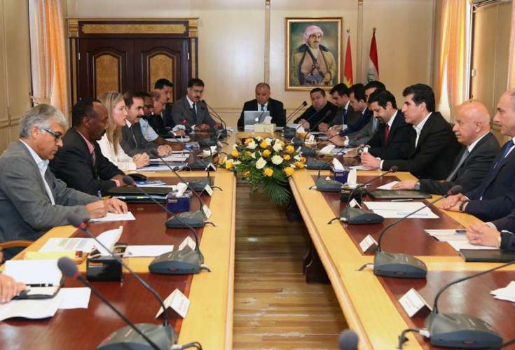 KRG Beamte diskutieren humanitäre Krise mit Vertretern der Vereinten Nationen