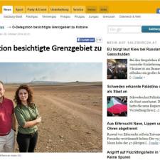 Österreichische Delegation besichtigt Grenzgebiet zu Kobane
