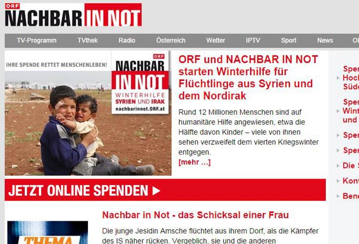 """ORF Spendenaktion """"Nachbar in Not"""" – Aufruf zur Hilfe"""