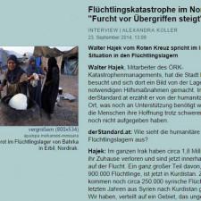 Walter Hajek vom Roten Kreuz (ÖRK) beschreibt die Situation in den Flüchtlingslagern in Kurdistan
