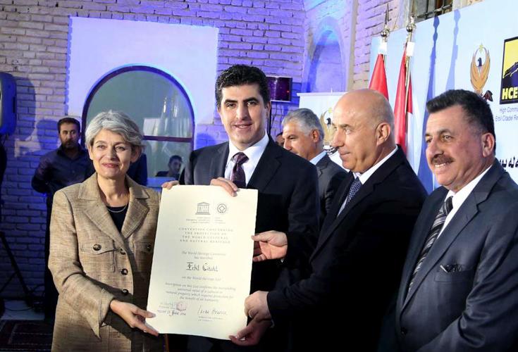 Zitadelle in Erbil von der UNESCO offiziell als Weltkulturerbe ernannt