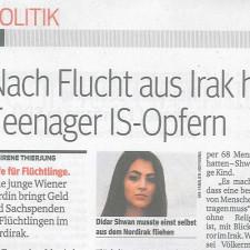 """KURIER Interview mit """"Gib Familien Hoffnung"""" Initiatorin Didar Shwan"""