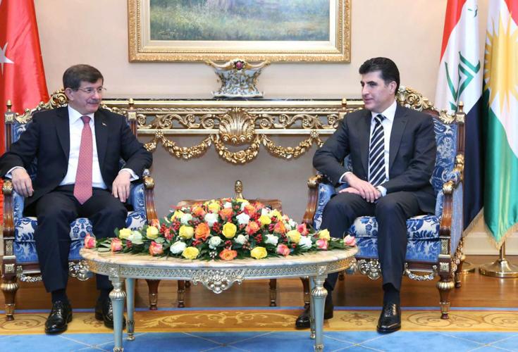 Türkischer Premierminister Davutoglu auf Besuch in Erbil