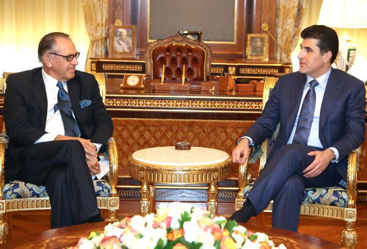 Premierminister Barzani empfängt VN Vizegeneralsekretär