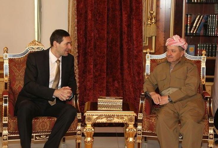 Präsident Barzani empfängt kroatischen Verteidigungsminister