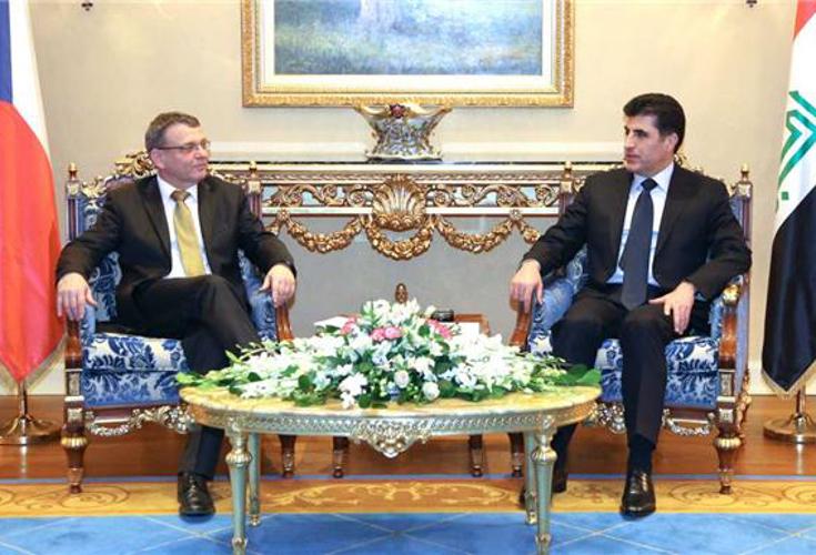 Premierminister Barzani und tschechischer Außenminister besprechen Sicherheits- und Wirtschaftsbeziehungen