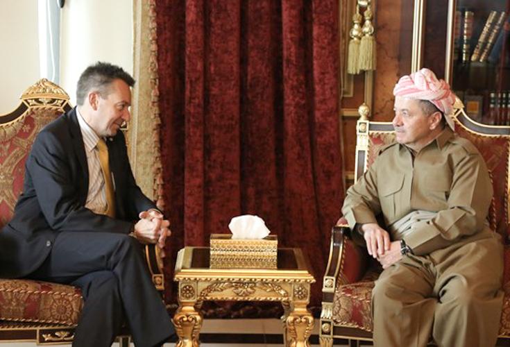 Präsident Barzani und KRG Vertreter treffen ICRC Präsident Peter Maurer
