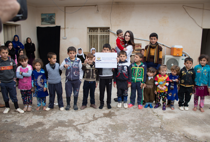 Positive Zwischenbilanz: Österreichisch-Kurdische Jugend-Initiative und KRG Vertretung verteilen erste Spendengelder an Flüchtlinge in Kurdistan