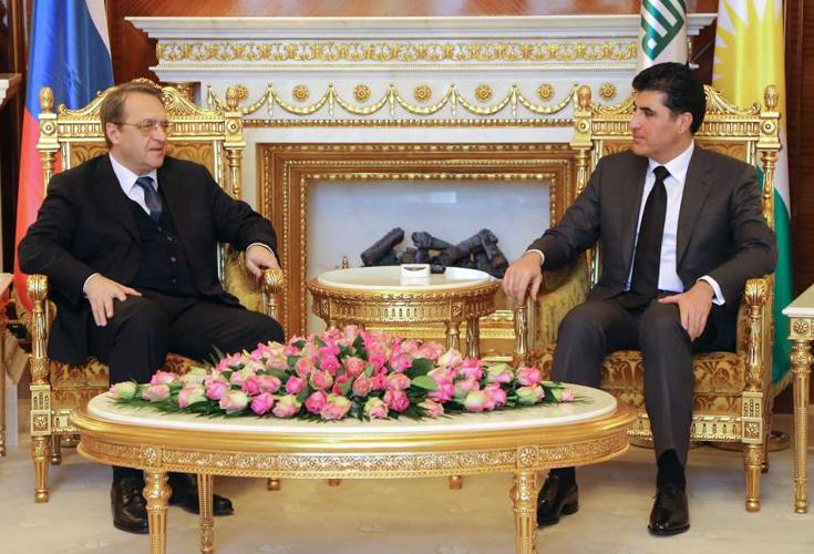 Premierminister Barzani trifft Präsident Putins Sondergesandten