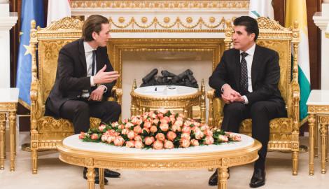 Außenminister Kurz zu Besuch in der Region Kurdistan