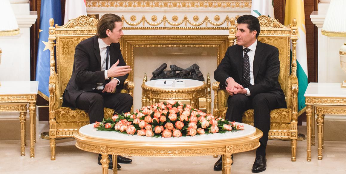 Foreign Minister Kurz visits Kurdistan Region