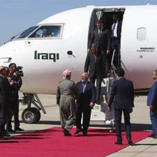 President Barzani receives Iraqi Prime Minister al-Abadi in Erbil