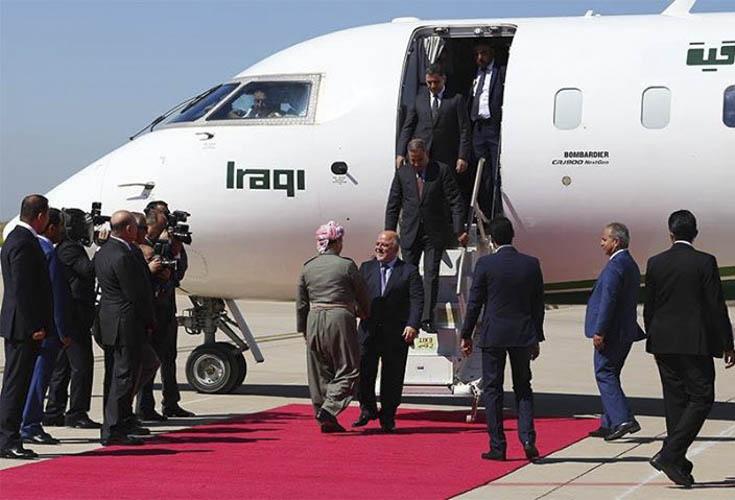 Präsident Barzani empfängt irakischen Premierminister al-Abadi in Erbil