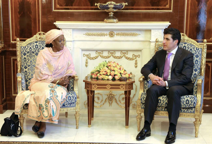 Premierminister Barzani empfängt die Sonderbeauftragte des UNO Generalsekretärs für sexuelle Gewalt in Konflikten