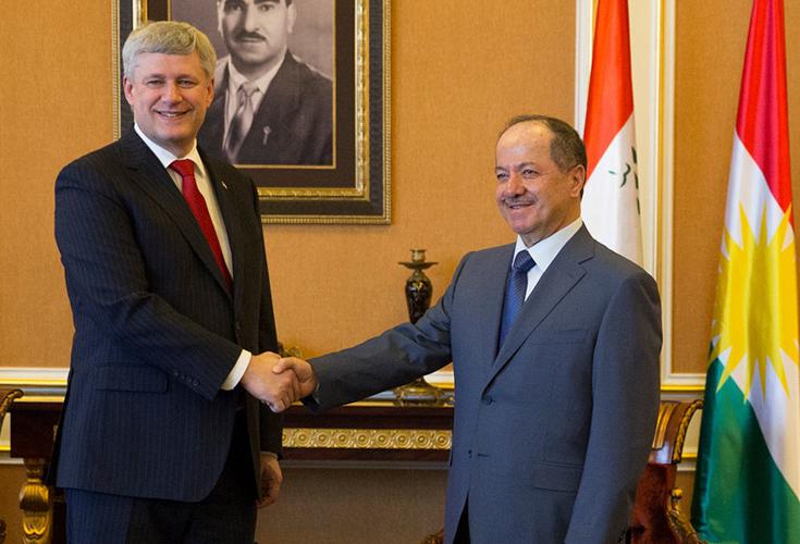 Präsident Barzani empfängt kanadischen Premierminister
