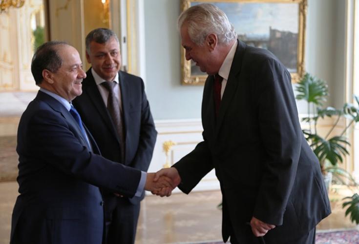Präsident Barzani trifft Präsidenten und Premierminister Tschechiens