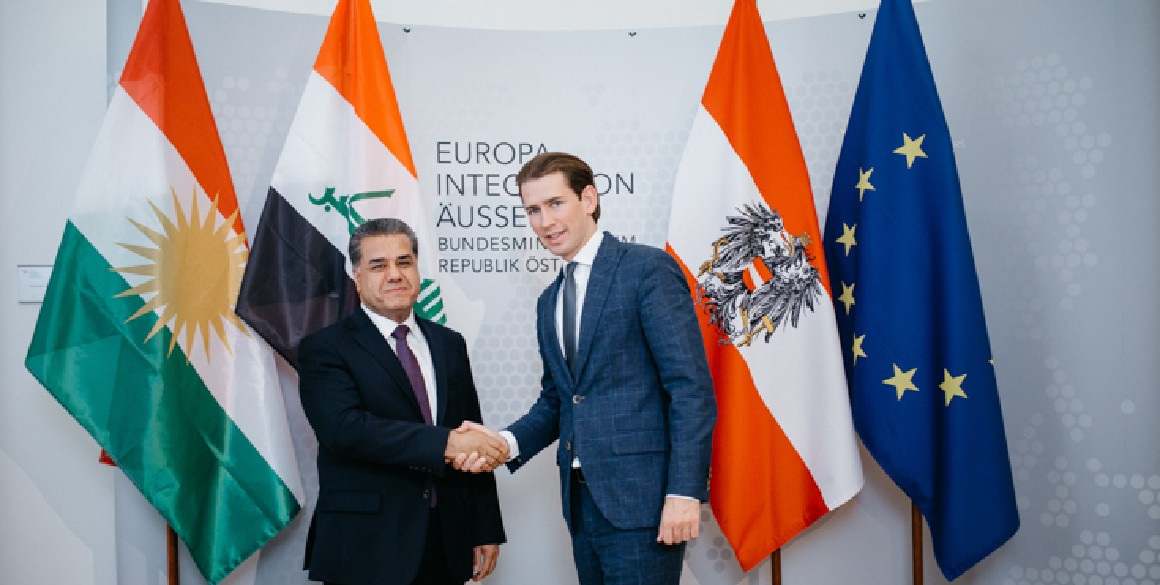 Minister Falah Mustafa concludes official visit to Austria