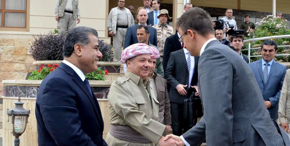 Präsident Barzani empfängt ungarischen Außenminister Szijjártó in Kurdistan