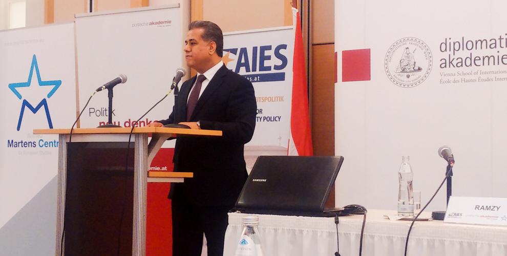 KRG Außenminister diskutiert Strategien gegen ISIS beim Europaforum zur GASP/GSVP in Wien