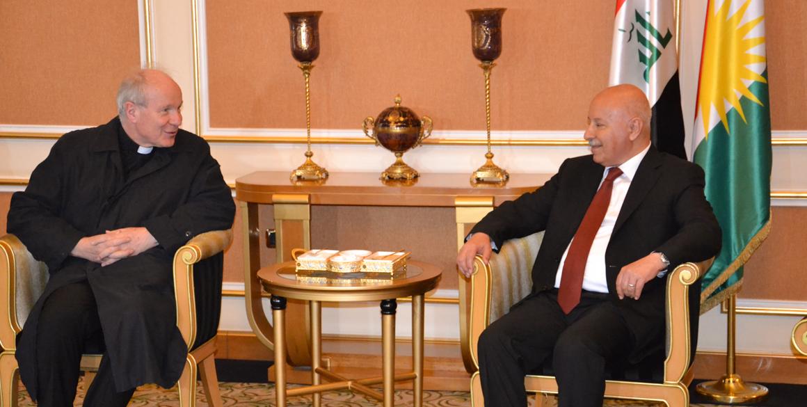 Österreichischer Kardinal Schönborn besucht Region Kurdistan