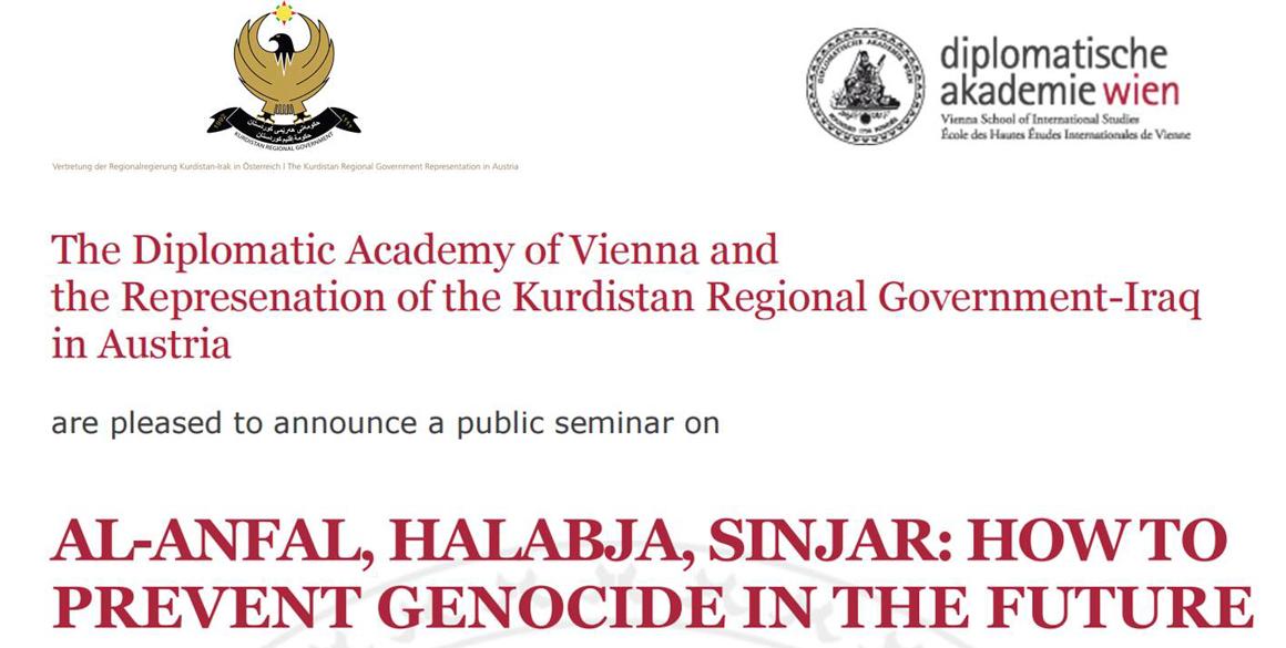 Diplomatische Akademie und KRG Vertretung laden zu Seminar am 27 April 2016