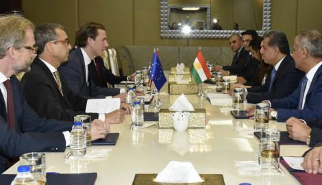 Außenminister Sebastian Kurz zu Besuch in Region Kurdistan
