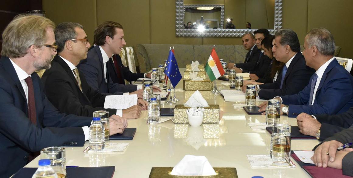 Austrian Foreign Minister Sebastian Kurz visits the Kurdistan Region