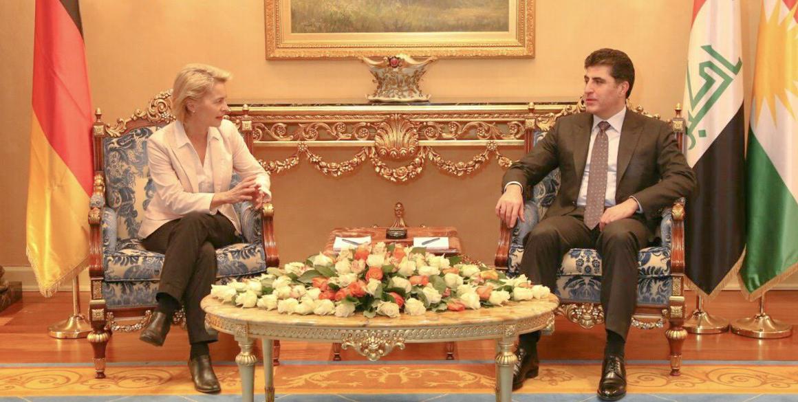 Deutsche Verteidigungsministerin von der Leyen zu Besuch in Erbil
