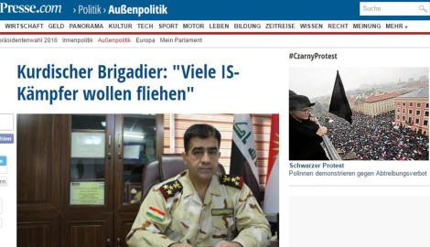 Kurdischer Brigadier: Viele IS-Kämpfer wollen fliehen
