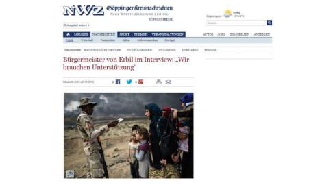 Interview mit Erbils Bürgermeister in der Neuen Württembergischen Zeitung