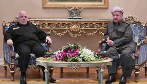 Präsident Barzani trifft irakischen Premierminister Hayder al-Abadi in Erbil