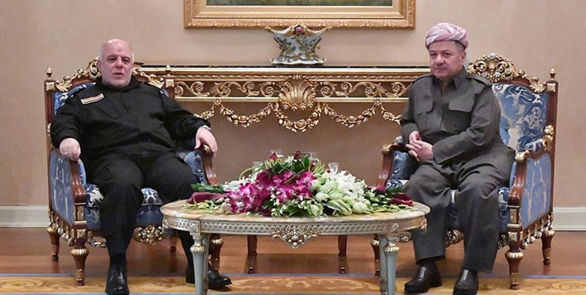 President Barzani and Iraqi Prime Minister Hayder al-Abadi Meet in Erbil