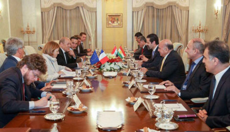 KRG Deputy Prime Minister meets French Ministers of Foreign Affairs and Armed Forces