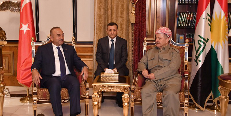 President Barzani Receives Turkey's Foreign Minister