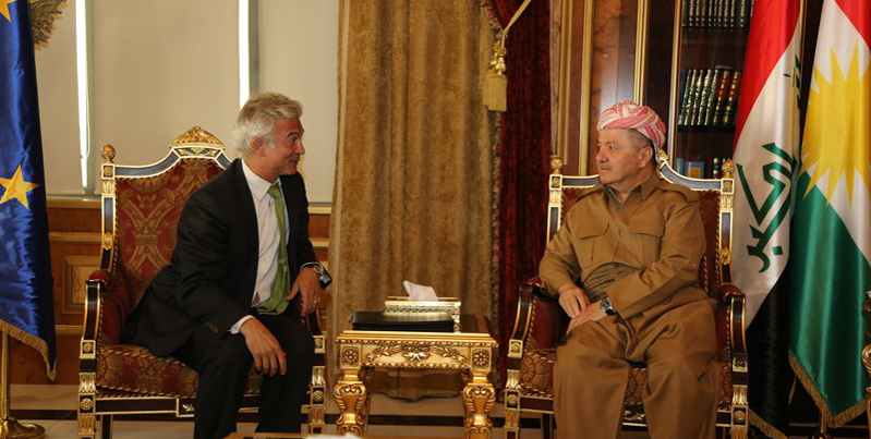 President Barzani Meets with E.U. Ambassador to Iraq