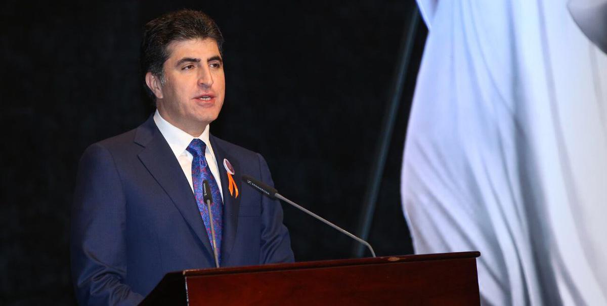 Premierminister Barzani bei der nationalen Kampagne im Kampf gegen Gewalt an Frauen