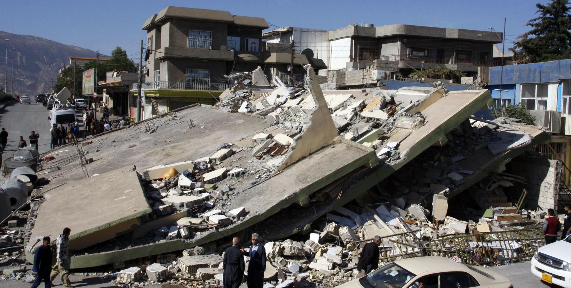 Schweres Erdbeben in der Region Kurdistan ...