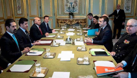 Premierminister Barzani und Präsident Macron besprechen die Lage in Kurdistan und im Irak