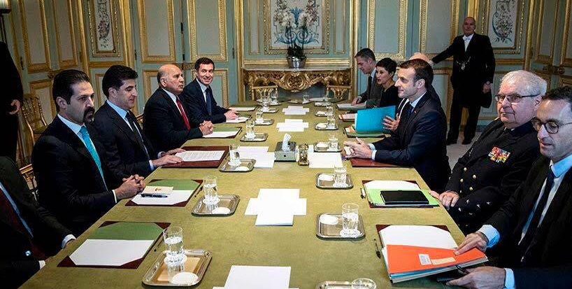 Prime Minister Barzani and French President Macron discuss Iraq and Kurdistan Region tensions