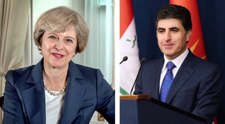 British Prime Minister stresses her government's support for the rights of the Kurdistan Region