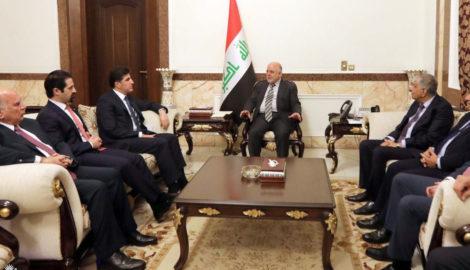 Premierminister Barzani trifft irakischen Premierminister al-Abadi in Bagdad