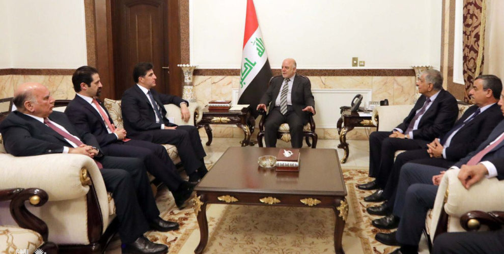 Barzani and Al-Abadi reaffirm commitment to the federal Constitution